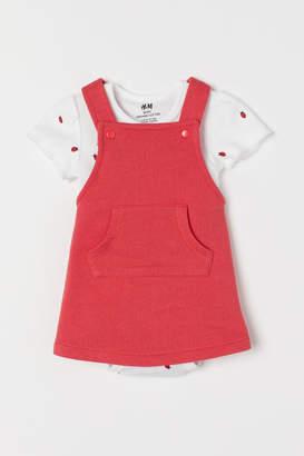 H&M Cotton dress and bodysuit