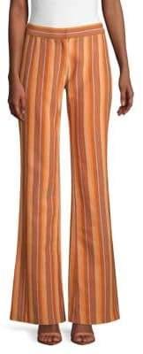 Derek Lam Striped Cotton Trousers