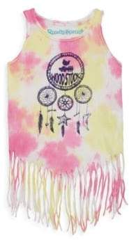 Rowdy Sprout Toddler, Little Girl's & Girl's Dream Catcher Fringe Cotton Tank Top
