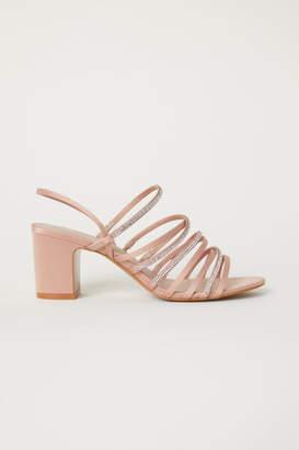 H&M Rhinestone Sandals - Beige