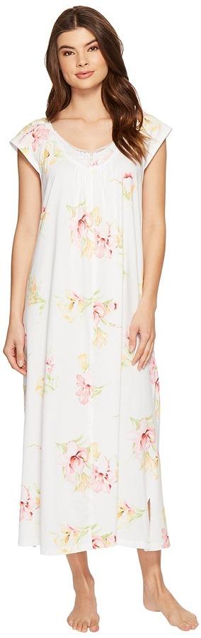 Carole HochmanCarole Hochman - Floral Knit Long Gown Women's Pajama