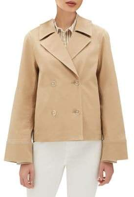 Lafayette 148 New York Double Breasted Cropped Jacket