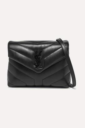 Saint Laurent Loulou Quilted Leather Shoulder Bag - Black