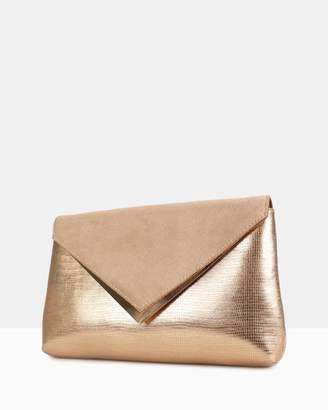betts Evaline Rose Gold Clutch Bag