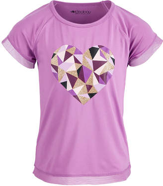 Ideology Toddler Girls Geometric Heart Graphic T-Shirt