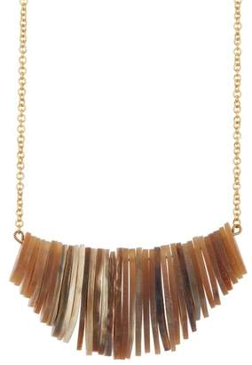 Soko Stacked Horn Frontal Necklace