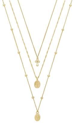 Ettika Set of 3 Cross Necklaces