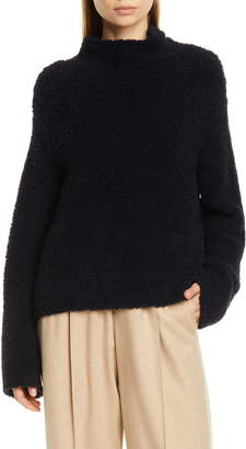 Vince Teddy Wool & Cashmere Blend Funnel Neck Sweater