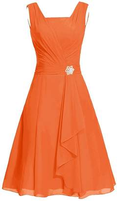 MaliaDress Women's Square Chiffon Bridesmaid Dress Party Dress M290LF US