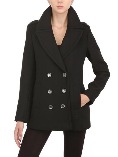 Burberry Double Wool Twill Pea Coat