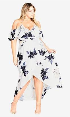 City Chic Delicate Ruffle Maxi Dress