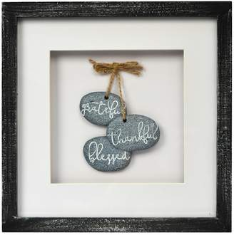 "New View Rustic ""Blessed"" Framed Wall Decor"