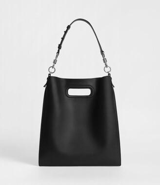AllSaints Captain Leather Flat Hobo Bag