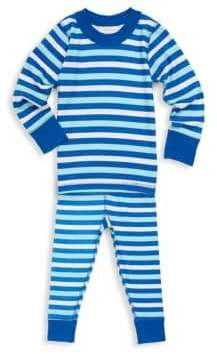 Baby Boy's Two-Piece Striped Cotton Top and Pants Set