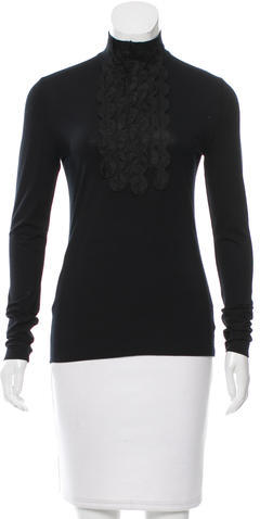 Akris Punto Akris Punto Embroidered Turtleneck Top w/ Tags