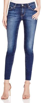 AG Legging Ankle Jeans with Raw Hem in 7 Years Break $235 thestylecure.com