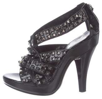 Burberry Patent Leather Studded Sandals