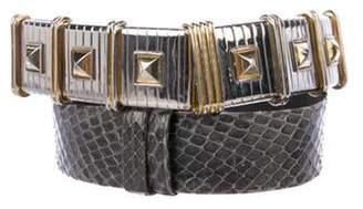 Judith Leiber Snakeskin Waist Belt Snakeskin Waist Belt