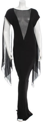 Jean Paul Gaultier Sheer Maxi Dress $345 thestylecure.com