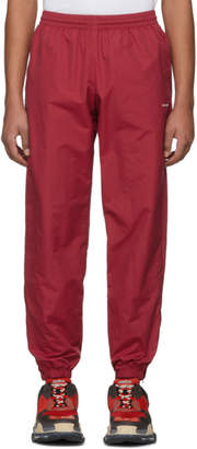 Balenciaga Red Nylon Track Pants