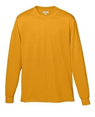 Augusta Sportswear 100% Poly Moisture-Wicking Long-Sleeve T-Shirt, Gold 3XL