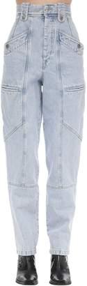 Etoile Isabel Marant Neko J Boyfriend Cotton Denim Jeans