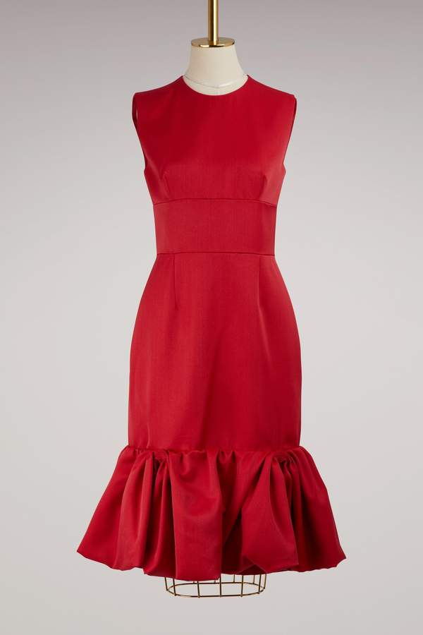 Prada Wool and silk sleeveless dress
