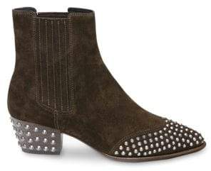Ash Hook Studded Western Leather Booties