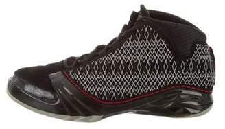 Nike Jordan 23 Embroidered Suede Sneakers