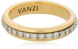 Tu Rotating 18kt Gold & Diamonds Ring
