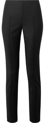 Akris Melissa Stretch Cotton-blend Slim-leg Pants - Black