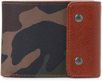 Fossil Camo & Brown Ethan Snap RFID Wallet