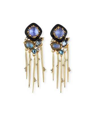 Alexis Bittar Shakey Stick Drop Earrings $325 thestylecure.com