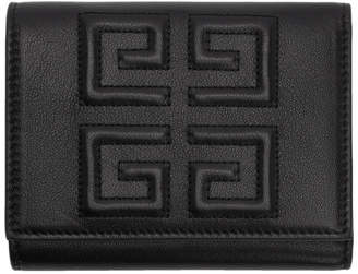 Givenchy Black Debossed 4G Trifold Wallet