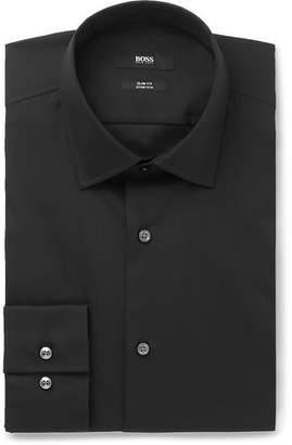 e7927a3fb HUGO BOSS Black Jenno Slim-Fit Cotton-Blend Shirt