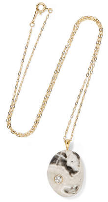 Cvc Stones Motely 18-karat Gold, Stone And Diamond Necklace