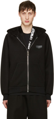 Givenchy Black Neoprene Hoodie $1,185 thestylecure.com