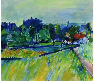 One Kings Lane Vintage Colorful Watercolor Landscape