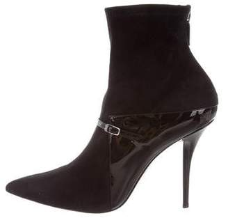 Givenchy Suede Pointed-Toe Booties w/ Tags