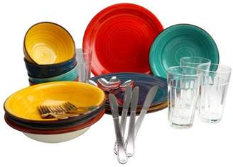 Gibson Home Gibson Color Speckle 28 Piece Mix and Match Dinnerware Combo Set