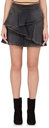Etoile Isabel Marant Women's Coati Ruffle Denim Skirt
