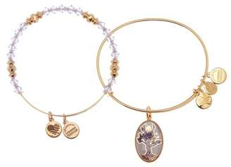 Alex and Ani Art Infusion Tree of Life Charm Expandable Wire Bracelet - Set of 2