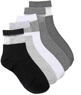 Mix No. 6 Assorted Mesh Ankle Socks - 5 Pack - Women's
