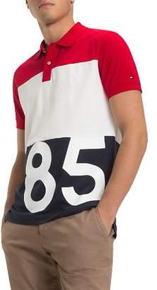 Tommy Hilfiger 85-Printed Color-Block Regular Fit Polo Shirt