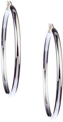 Candela Sterling Silver & 14K Yellow Gold Polished Hoop Earrings