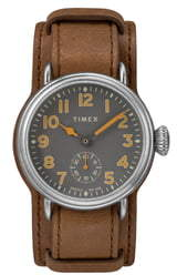 Timex Waterbury Welton Leather Cuff Watch, 38mm