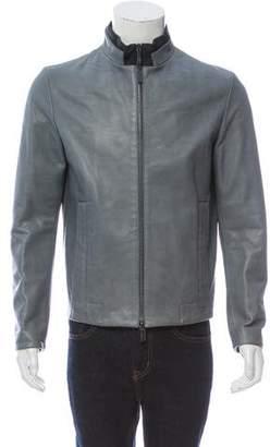 Calvin Klein Collection Lambskin Zip-Up Jacket