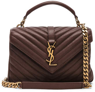Saint Laurent Medium Monogramme College Bag in Old Brandy | FWRD