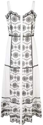 Veronica Beard embroidered midi dress