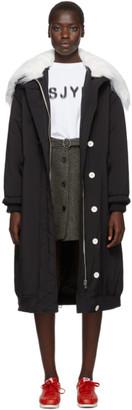 Sjyp Black Long Padding Jacket
